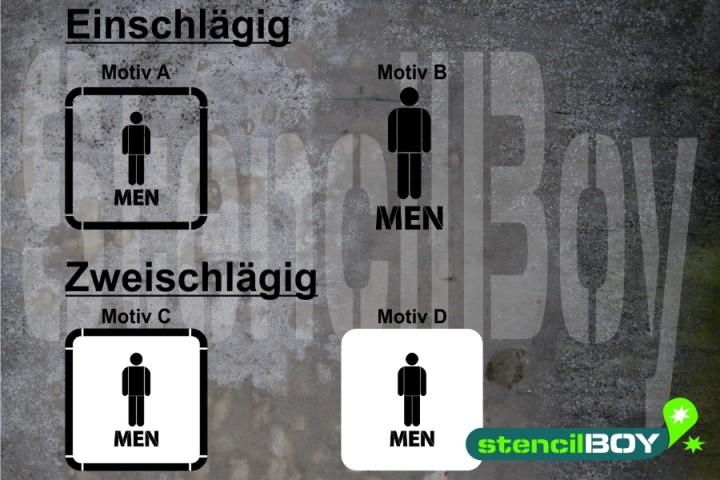 Men/Herren WC - Schablonen