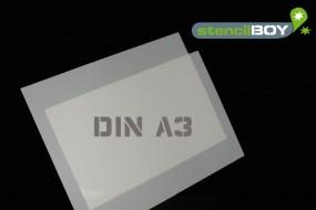 Mylar® Schablone DIN A3 (2er Set) 0,5mm