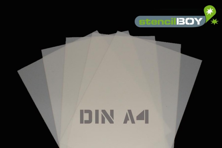 Mylar® Schablone DIN A4 (5er Set) 0,5mm