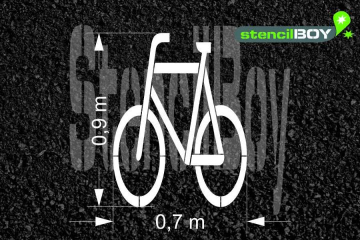 """""""Radfahrer"""" Piktogramm nach RMS - Bodenmarkierungsschablone"""