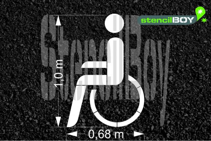 """""""Behinderte"""" Piktogramm nach RMS - Bodenmarkierungsschablone"""