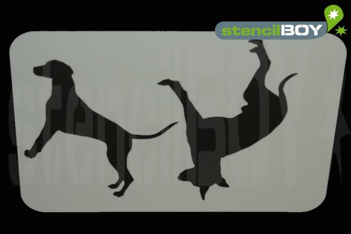 English Toy Terrier und Dalmatiner