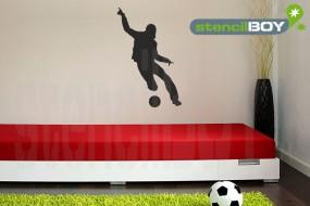 Fussballspieler - soccer player - Schablone