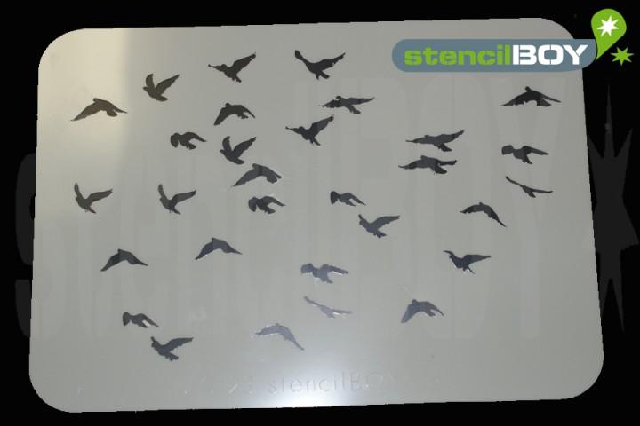 Vogelschwarm 1 - Schablone
