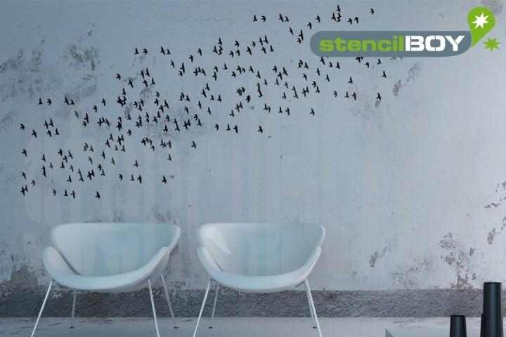 Vogelschwarm 2 - Schablone