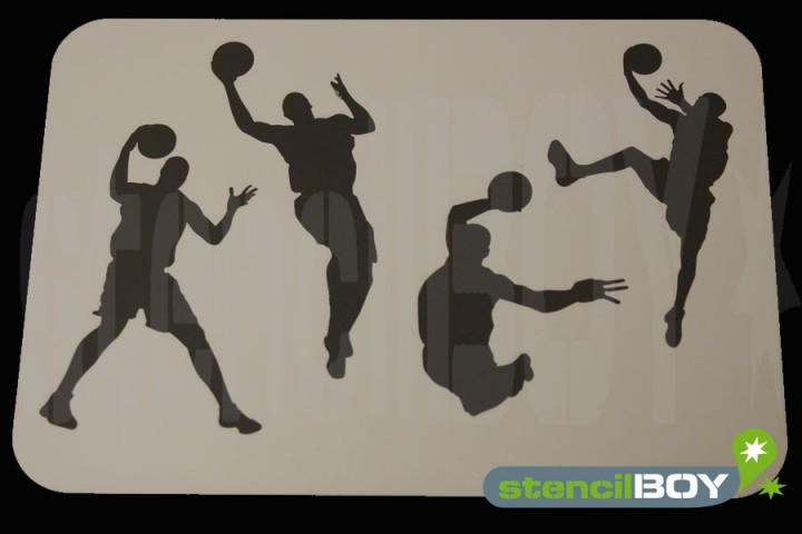 Basketball Spieler mit Ball