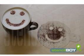 Cappuccino Schablone Smiley