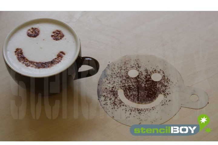 Cappuccino Schablone Smiley