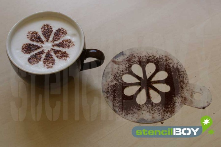 """Cappuccino Schablone """"Blume - florales Motiv"""""""