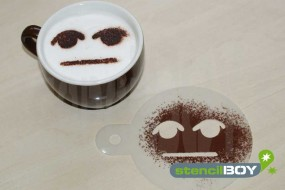 """Cappuccino Schablone """"Non - Smiley - Herbert"""""""
