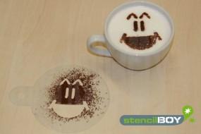 """Cappuccino Schablone """"Smiley - Hannes"""""""