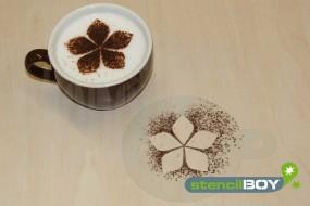 """Cappuccino Schablone """"florales Motiv 1"""""""