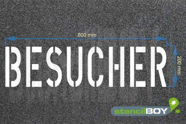 """""""BESUCHER"""" Bodenmarkierungs-Schablone"""