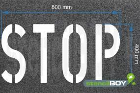 """""""STOP"""" Bodenmarkierungsschablone"""