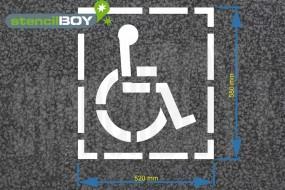 """Bodenmarkierungs-Schablone """"Rollstuhlfahrer"""" medium"""