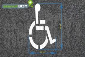 """""""Rollstuhlfahrer"""" Bodenmarkierungs-Schablone"""