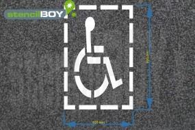 """""""Rollstuhlfahrer"""" mit Rahmen, Bodenmarkierungs-Schablone"""