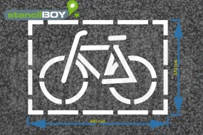 """cyclist"" Floor Marking Stencil"