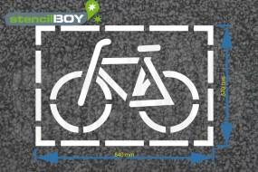 """""""Radfahrer - Fahrrad"""" Bodenmarkierungs-Schablone"""