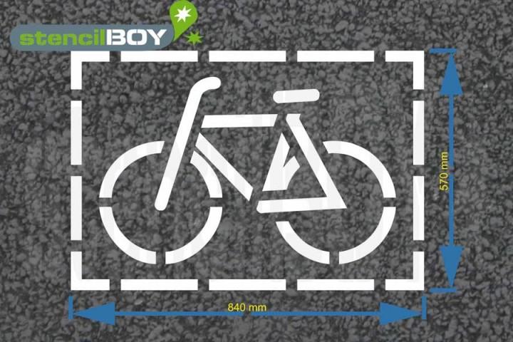 """cyclist"" Floor Marking Stencil"