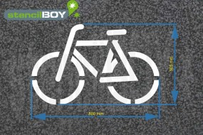 Radfahrer- Fahrrad - Bodenmarkierungs-Schablone