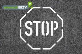 """""""STOP"""" Bodenmarkierungs-Schablone, Stopzeichen"""