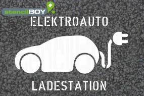 """""""Elektroauto - Ladestation"""" Bodenmarkierungs-Schablone XXL"""