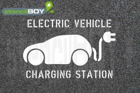 """Electric Vehicle - Charging Station"" Bodenmarkierungs-Schablone"