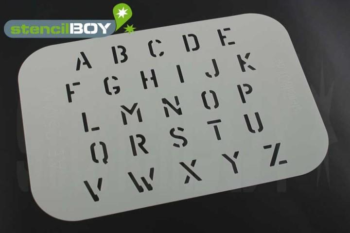 Buchstabenschablone Stencilfont AE