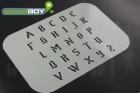 Buchstabenschablone Stencilfont GO (altertümlich, altdeutsch)