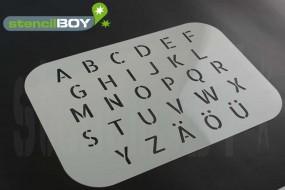 Buchstabenschablone Stencilfont AL