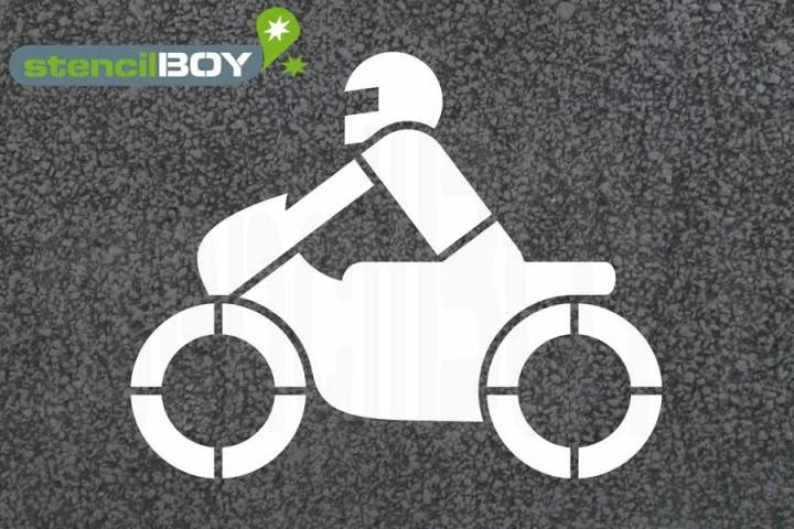 """""""Motorrad"""" Bodenmarkierungsschablone"""
