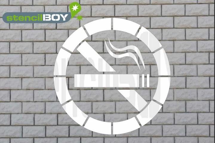 """""""Rauchen verboten""""- """"No Smoking"""" Boden- und Wandmarkierungs-Schablone"""