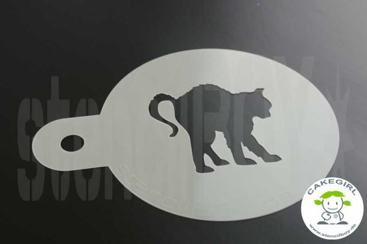 """Cake Stencil """"black cat"""""""