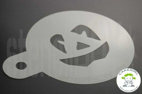 "Cake Stencil ""Jack O'Lantern - halloween grimace 1"""