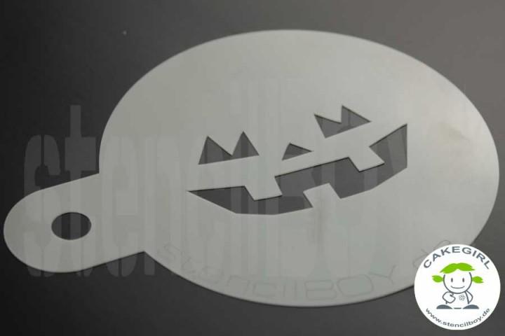 "Cake Stencil ""Jack O'Lantern - halloween grimace 2"""