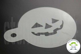 "Cake Stencil ""Jack O'Lantern - halloween grimace 5"""