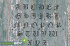 25-150mm Buchstabenschablonen A-Z altdeutsche Schrift AD mit Sprühnebelschutz