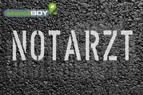 """""""Notarzt"""" Parkplatz Schablone"""