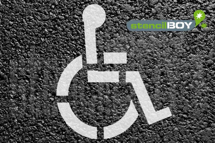 """""""Rollstuhlfahrer"""" Grösse XL Bodenmarkierungs-Schablone"""