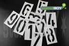 100mm Zahlen Magnetschablone nach DIN 1451
