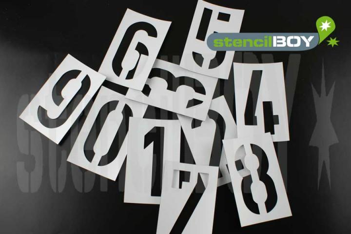 75mm Zahlen Magnetschablone nach DIN 1451