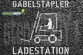 """""""Gabelstapler - Ladestation"""" Bodenmarkierungs-Schablone"""