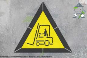 """""""Warnung vor Flurförderzeugen"""" - """"Achtung Gabelstapler"""" Warnzeichen-Schablonen-Set"""