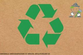 """""""Recycling - Recycled"""" Boden- und Wandmarkierungs-Schablone"""