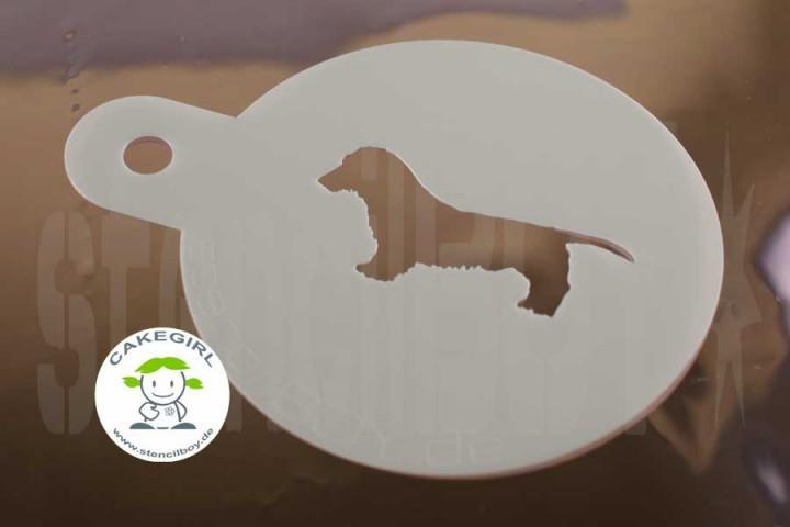 "Cake Stencil ""Dog Charles"""