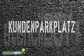 """""""KUNDENPARKPLATZ"""" Bodenmarkierungs - Schablone"""