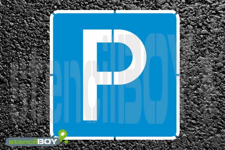 """""""Parken""""- 2-teiliges Bodenmarkierungs-Schablonenset"""