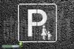 """""""Mutter-Kind Parkplatz bzw. Eltern-Kind Parkplatz"""" Bodenmarkierungs-Schablone"""