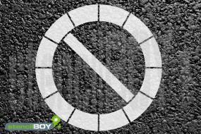 """""""Parkverbot - eingeschränktes Haltverbot"""" Bodenmarkierungs-Schablone"""